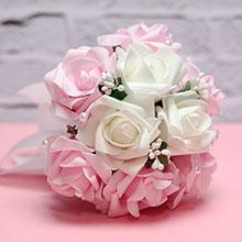"""Букет-дублер для невесты """"Очарование"""" (белый/розовый)"""