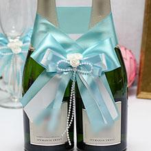 """Декоративное украшение для шампанского """"Fantastic"""" (лазурь)"""