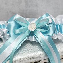 Подвязка свадебная Fantastic (лазурь)