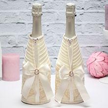 Чехлы на бутылки шампанского Винтажный шик (2 шт)