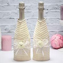 Чехлы на бутылки шампанского Розанна (2 шт)