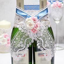 """Декоративное украшение для шампанского """"Воздушный поцелуй"""""""