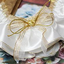 """Подвязка для невесты """"Сияние"""" (белый/золотой)"""