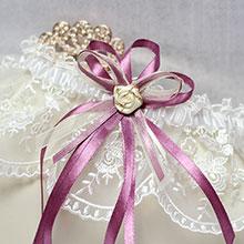 """Подвязка для невесты """"Вишневая сказка"""""""