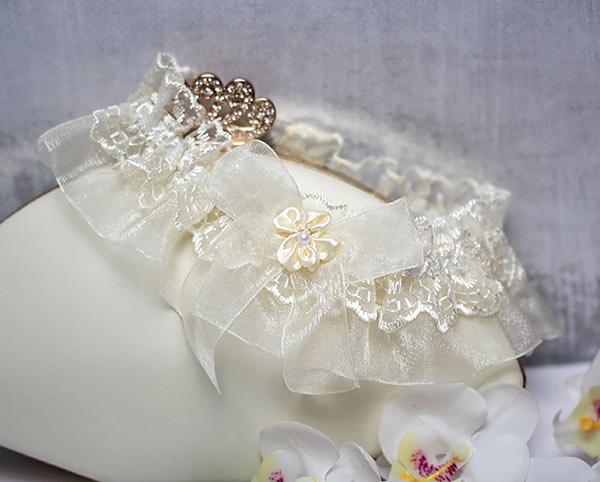 Подвязка для невесты Радость (айвори)