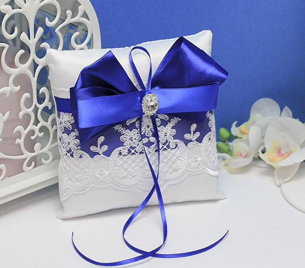 """Свадебная подушечка для колец """"Портофино"""" (синий)"""