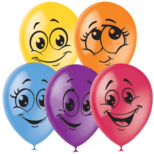 """Набор воздушных шаров """"Улыбки (10 шт, 30 см)"""