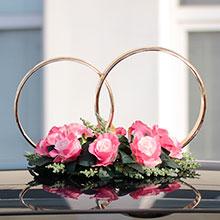 "Кольца на авто ""Sweet Roses"" (брусничные)"