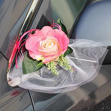 "Бутоньерка на машину ""Sweet Roses"" (2 шт, брусничные)"
