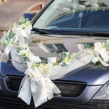 Украшение на свадебную машину «Нежные цветы»