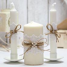 Домашний очаг + 2 свечи Рустик (без подсвечников)