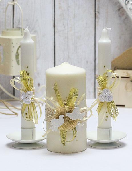 Домашний очаг + 2 свечи Семейное гнездышко (без подсвечников) (айвори)