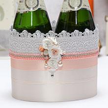 """Декоративное украшение для шампанского """"Свадебная мечта"""""""
