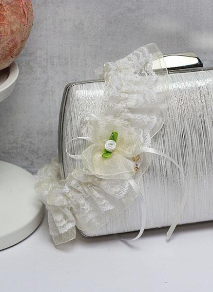 Свадебная подвязка Озорные сердечки (айвори)