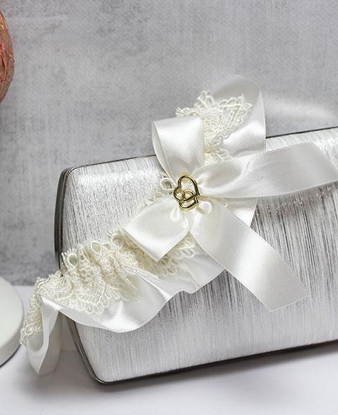 """Свадебная подвязка """"Свадебные узы"""" (айвори)"""