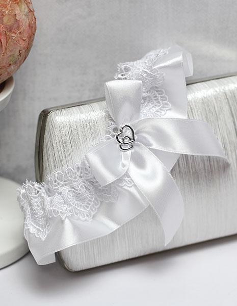 Свадебная подвязка Свадебные узы (белый)