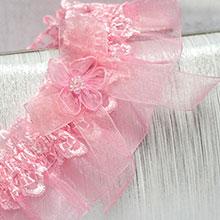 Подвязка для невесты Радость (розовый)