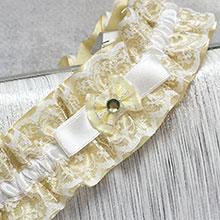 """Свадебная подвязка лоя невесты """"Злата"""""""