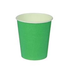 Набор однотонных бумажных стаканчиков (10 шт) (зеленый)