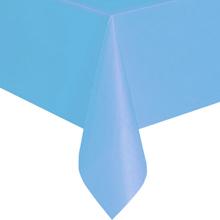 Однотонная скатерть для праздника (голубая, 137х183 см)