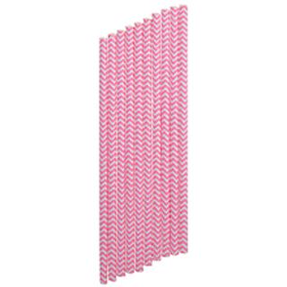 """Бумажные трубочки для напитков """"Блаженство"""", розовые"""