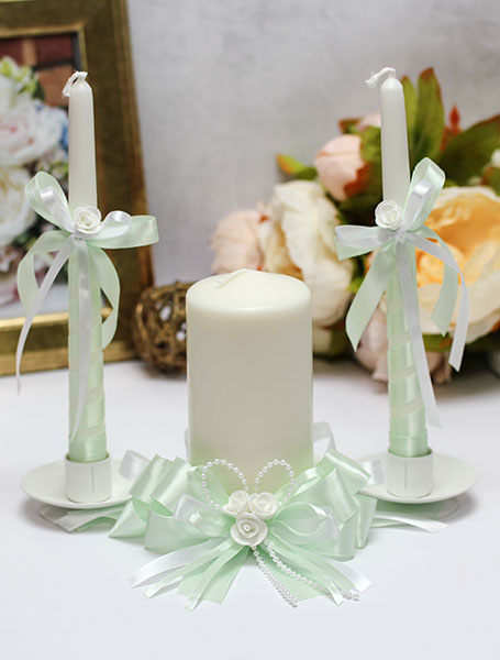 Домашний очаг + 2 свечи Fantastic (без подсвечников) (мятный)