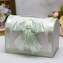 Свадебный сундучок для денег и пожеланий Fantastic (большой) (мятный)
