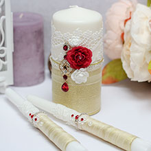 """Свадебные свечи """"Волшебный сад"""""""
