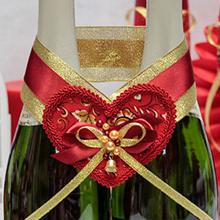 Украшение для шампанского Хохлома