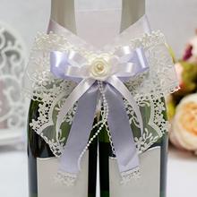 Декоративное украшение для шампанского Розалия (айвори-сиреневый)