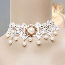 Колье - коллар для невесты из ажурного кружева (айвори)