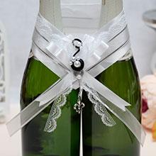 """Украшение для шампанского """"Флёр-де-Лис"""""""