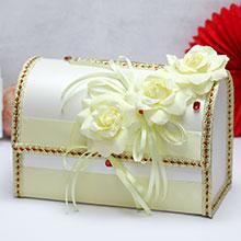 """Свадебный сундучок для подарков открывающийся """"Леонелла"""""""