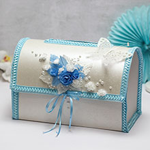 """Свадебный сундучок для подарков открывающийся """"Волшебный сад"""""""