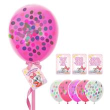 """Воздушные шары с пожеланиями """"С рождением малышки"""" (25 см, 8 шт)"""