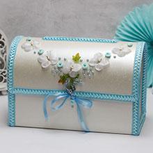 """Свадебный сундучок для подарков открывающийся """"Бабочки"""""""