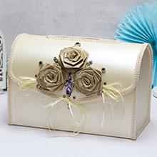 """Свадебный сундучок для подарков открывающийся """"Мокко"""""""