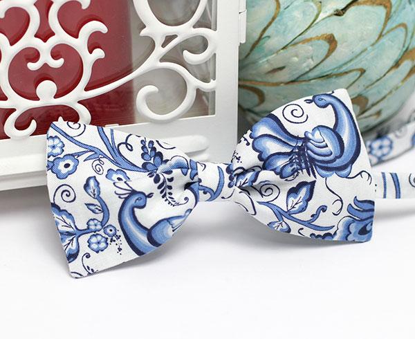 Галстук-бабочка для жениха (гжель)