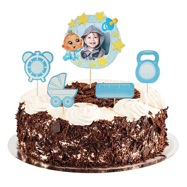 """Декор для торта """"Малыш"""" с рамкой для фото"""