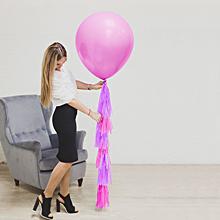 Шар воздушный с тассел-лентой Малышка , 60 см.