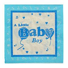 """Бумажные салфетки """"Baby boy"""", 20 шт., 25 * 25 см,  голубой"""