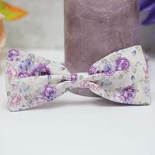 Галстук-бабочка для жениха (сиреневые цветы)