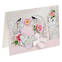 Свадебная открытка хэнд-мэйд, 15х11см
