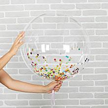 Шар прозрачный, конфетти (45 см)