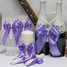 """Комплект свадебных аксессуаров """"Винтажный шик"""" (3, сиреневый)"""
