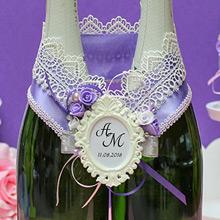Украшение для шампанского Летний вечер (сиреневый)