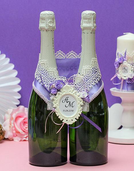 """Украшение для шампанского """"Летний вечер"""""""