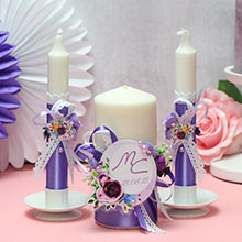 Домашний очаг + 2 свечи Роскошные цветы (без подсвечников)
