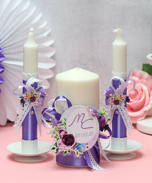"""Домашний очаг + 2 свечи """"Роскошные цветы"""" (без подсвечников)"""