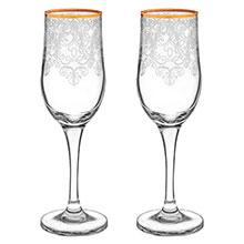 """Свадебные бокалы для шампанского """"Византия"""" (2 шт)"""